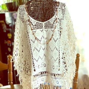 Boho Crocheted Top- Large